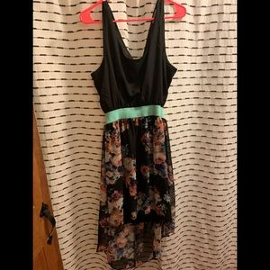 High low floral dress